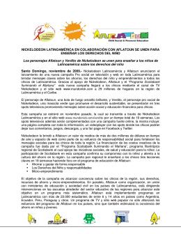 Nickelodeon Latinoamérica en colaboración con