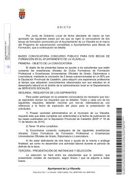 EDICTO Por Junta de Gobierno Local de fecha diecisiete de marzo