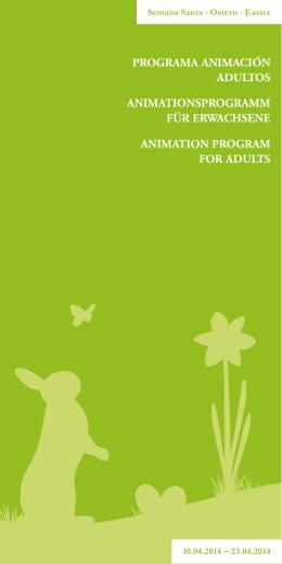 Programa animación adultos animationsProgramm für ErwachsEnE