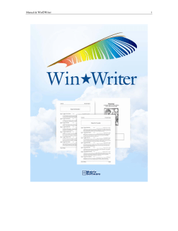 Manual de WinWriter - Matrix Astrology Software