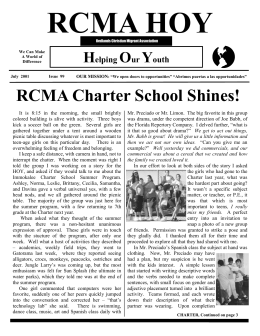 July 2001 Issue - Redlands Christian Migrant Association