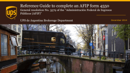 Reference Guide to complete an AFIP form 4550