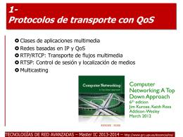 Protocolos de transporte QoS