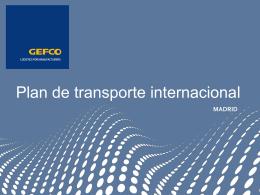 Plan de transporte nacional
