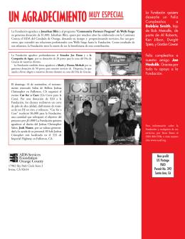 UN AGRADECIMIENTO - AIDS Services Foundation Orange County