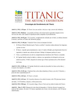 Cronología del Hundimiento del Titanic
