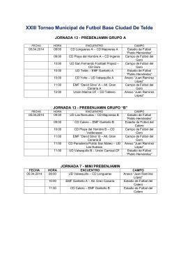 XXIII Torneo Municipal de Futbol Base Ciudad De Telde