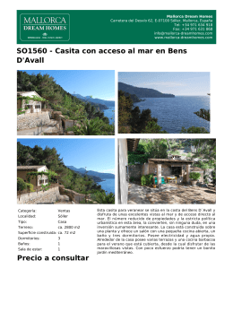 SO1560 - Casita con acceso al mar en Bens D`Avall