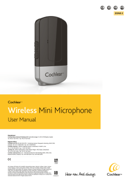 Cochlear™ Wireless Mini Microphone Manual