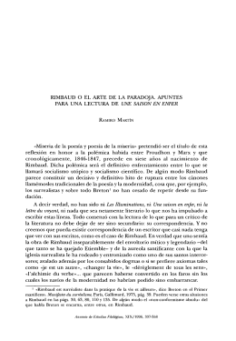 Rimbaud o el arte de la paradoja. Apuntes para una