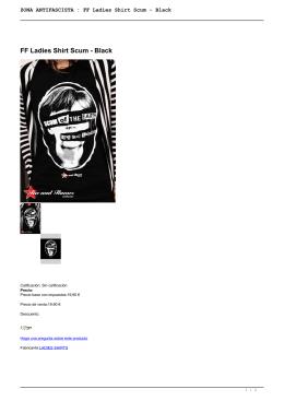 ZONA ANTIFASCISTA : FF Ladies Shirt Scum - Black