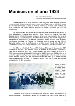Manises en el año 1924