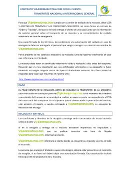 CONTRATO VIAJEDEMASCOTAS.COM CON EL CLIENTE