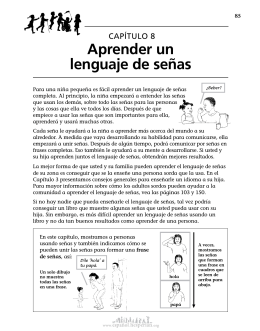 8 Aprender un lenguaje de señas