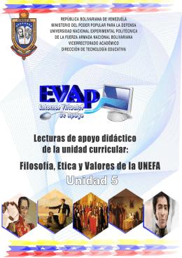 Filosofía, Ética y Valores de la UNEFA Unidad 5: Formación