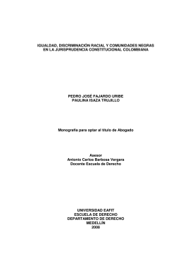 Igualdad, discriminación racial y comunidades negras en la