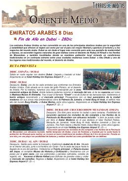 Emiratos Arabes. Fin de Año 28Dic