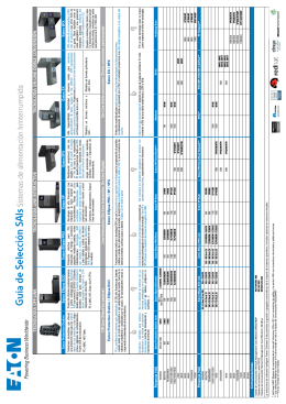 Guía de Selección SAIs