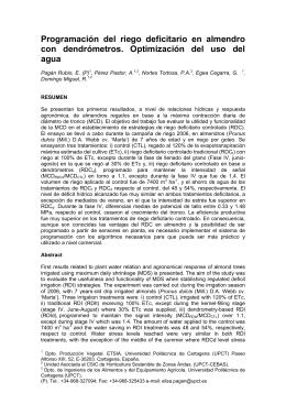 Programación del riego deficitario en almendro con