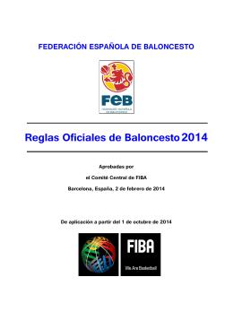 Reglas Oficiales de Baloncesto FIBA 2014