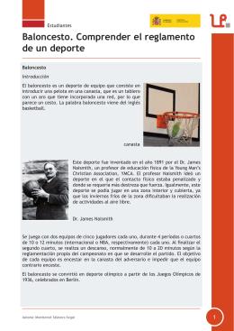 Baloncesto. Comprender el reglamento de un deporte