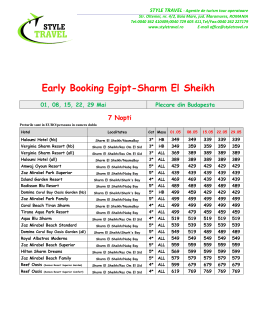 Early Booking Egipt-Sharm El Sheikh