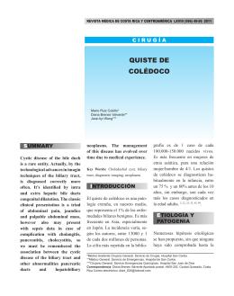 QUISTE DE COlÉDOCO