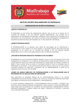 ABCÉ del Decreto Reglamentario de Teletrabajo