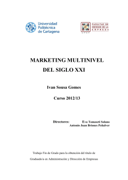 MARKETING MULTINIVEL DEL SIGLO XXI