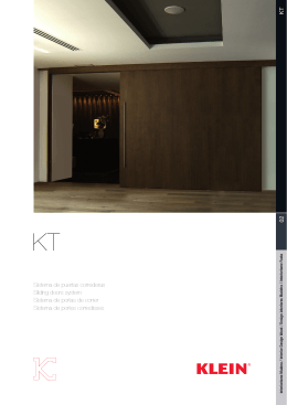 02 KT Sistema de puertas correderas Sliding doors system