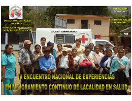 direccion de salud huanuco direccion promocion red salud huanuco