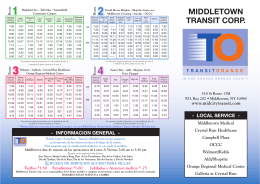 MIDDLETOWN TRANSIT CORP. - Mid City Transit Corporation