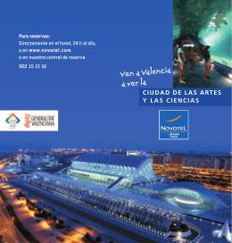 diptico NOVOTEL - Ciudad de las Artes y las Ciencias