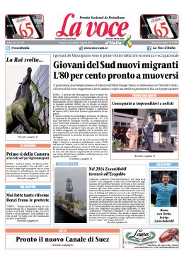 05 AGOSTO 2015 - La Voce d`Italia