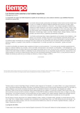 Los fondos buitre acechan a los hoteles españoles
