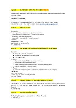 58/2015 CARRETILLERO RETRACTIL - TORRIJOS