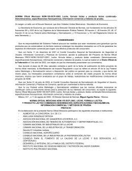 NORMA Oficial Mexicana NOM-155-SCFI