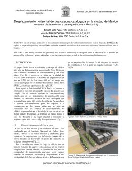 Desplazamiento horizontal de una casona en la ciudad de México