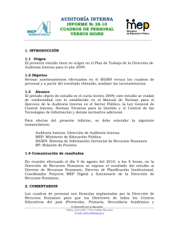 Informe 28-10 - Ministerio de Educación Pública