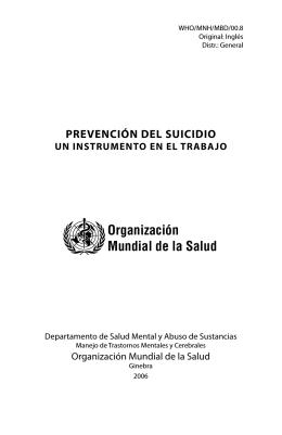 Prevención del Suicidio: un instrumento en el trabajo