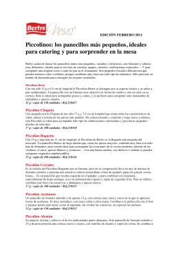 Piccolinos: los panecillos más pequeños, ideales para