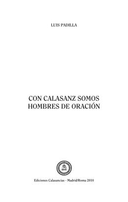 CON CALASANZ SOMOS HOMBRES DE ORACIÓN