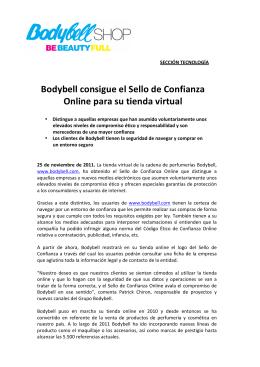 Bodybell consigue el Sello de Confianza Online para su tienda virtual