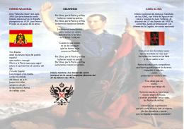 Viva España alzad los brazos hijos del pueblo español que vuelve a
