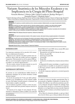 Variante Anatómica de los Músculos Escalenos y su - AANC