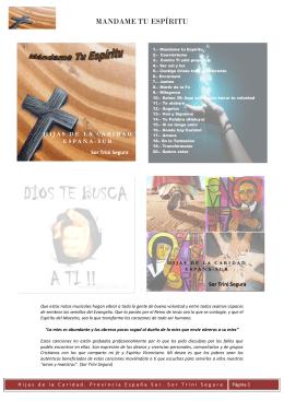 MANDAME TU ESPÍRITU - Hijas de la Caridad