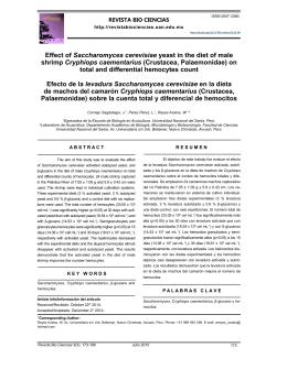 Efecto de la levadura Saccharomyces cerevisiae en la dieta de