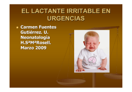 EL LACTANTE IRRITABLE EN URGENCIAS