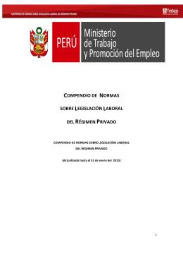 compendio de normas laborales correspondiente al año 2013