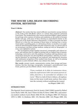 The Moche Lima Beans Recording System, Revisited